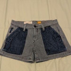 Anthropologie pinstripe pilcro shorts